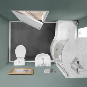 Perfectly small bathroom suite for loft xx
