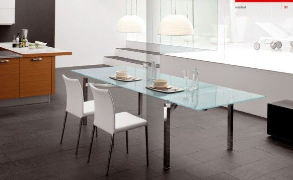 Cattelan Italia Dining glass table white Chair Italy