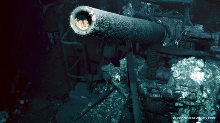 Image from the Paul Allen-led expedition that found the wreck of USS Indianapolis.