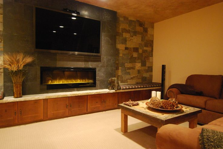 Inspired lowes electric fireplace in Family Room Contemporary with Fireplace Tv next to Wall Mount Fireplace alongside Tv And Fireplace and Entertainment Wall