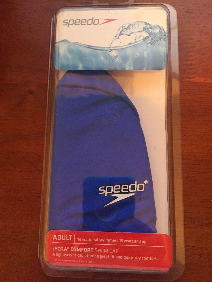 Speedo Adult Nylon Lycra Swimming Swim Bathing Head Cap, Speedo Blue  | eBay
