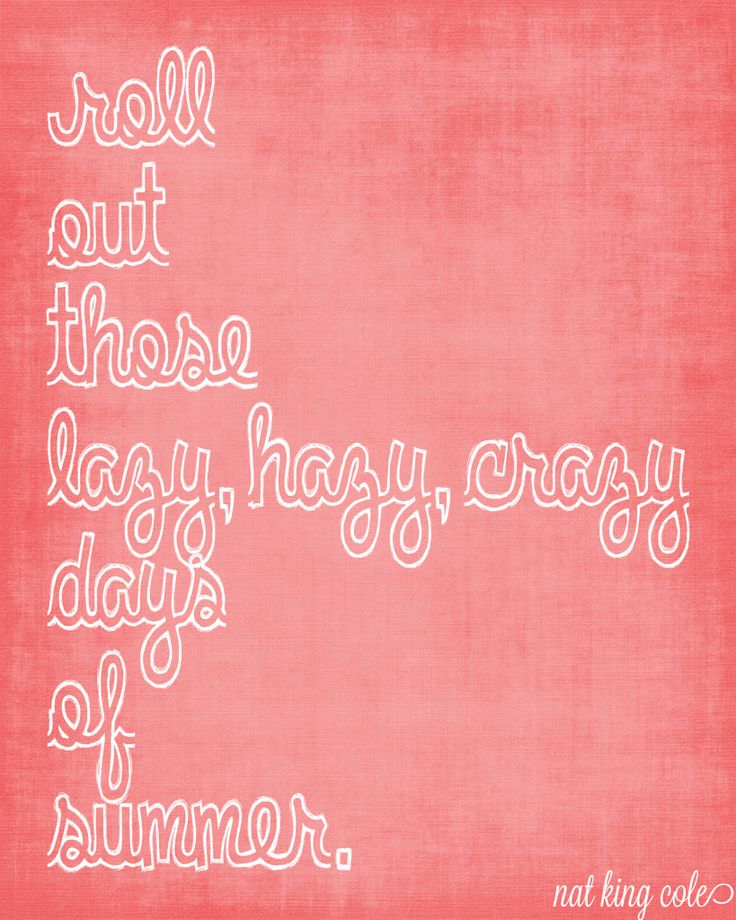 """Free summer print for download - """"Lazy, Hazy, Crazy Days of Summer"""" @ thelovenerds"""