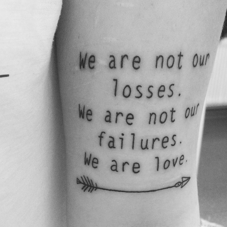 La Dispute lyric tattoo.                                                                                                                                                                                 Mehr