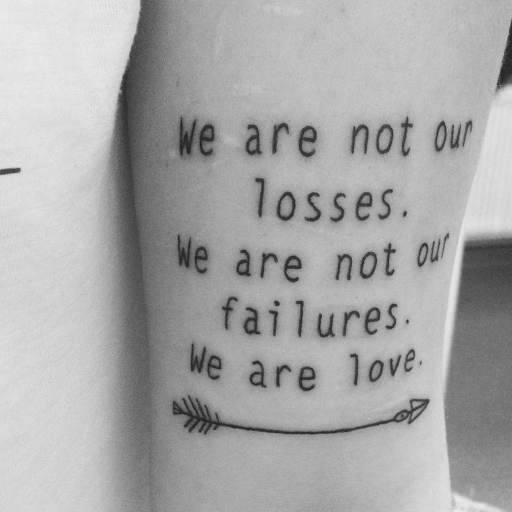La Dispute lyric tattoo.                                                                                                                                                                                 Mehr