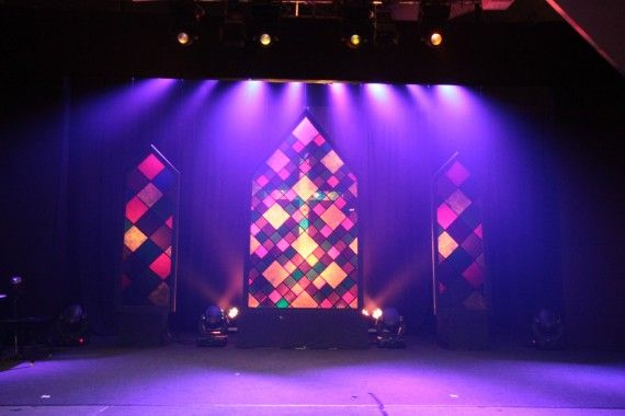 A Ghostly Cross | Church Stage Design Ideas