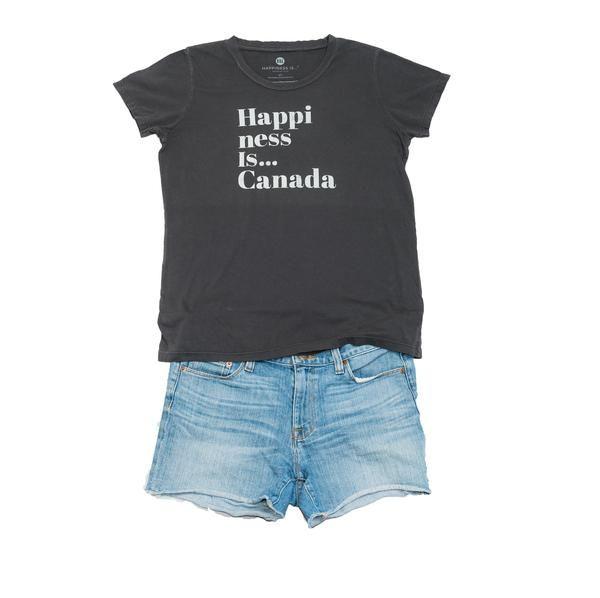 Canada Women's T-Shirt, Vintage Black