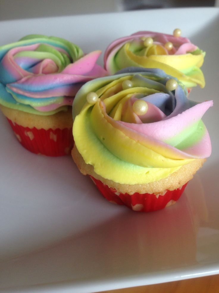 Cupcakes for Holi with thandai mousse filling :-)