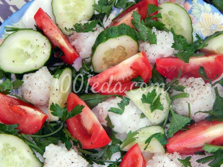 Летняя овощная тарелка с рисовыми шариками: рецепт с пошаговым фото