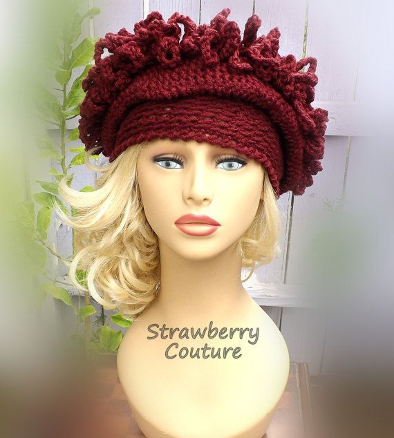 Unusual Gifts Unique Gift for Women 1920s Cloche Hat Crochet Hat Womens Hat 1920s Aubergine Hat LINDA Cloche Hat by strawberrycouture by #strawberrycouture on #Etsy