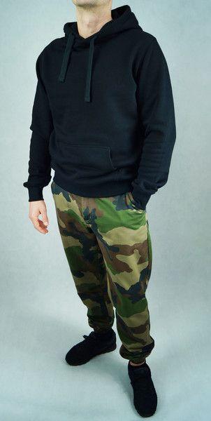 Bluza Black hoodie - lilyoodziez - Bluzy z kapturem męskie