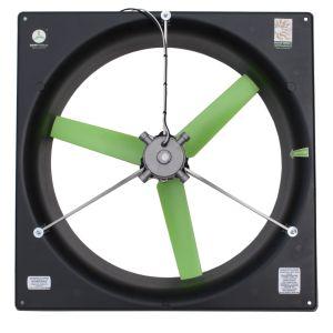 "24"" Solar/battery direct greenhouse ventilation fan. Powered by the sun! snap-fan.com"