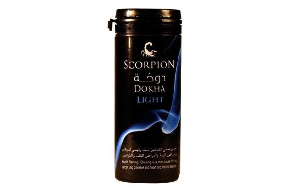 Scorpion Light Dokha may be just right for you.  While, as a dokha, still remarkably stronger than most other tobaccos, Light is a pure pleasure to indulge - entirely smooth, cool smoking and without the harshness of stronger dokha tobaccos.  This is the favorite dokha to start your morning and for winding down in the evening time.  Smoke your medwakh with Light dokha as you would a hookah for an extra rush.