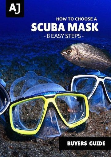 Learn how to choose a scuba diving mask with these 8 easy steps and find the model that suits your needs (and your face!) best #scubadivingequipmentgears