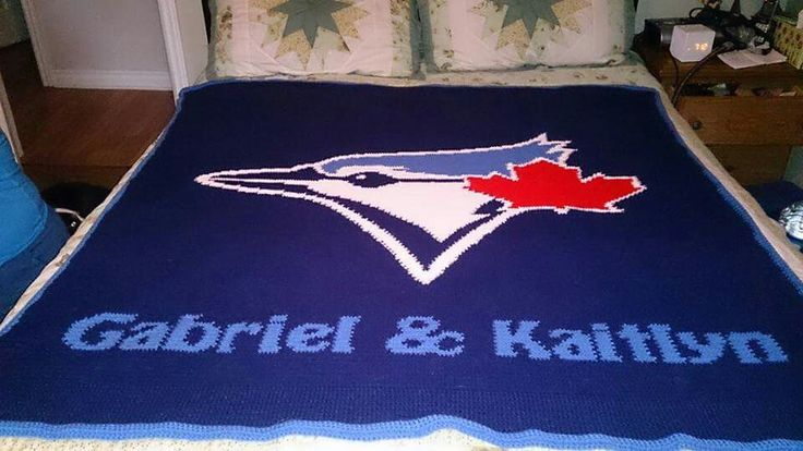 Personalized Toronto Bluejays   Team Blanket  Full size  Designed by myself