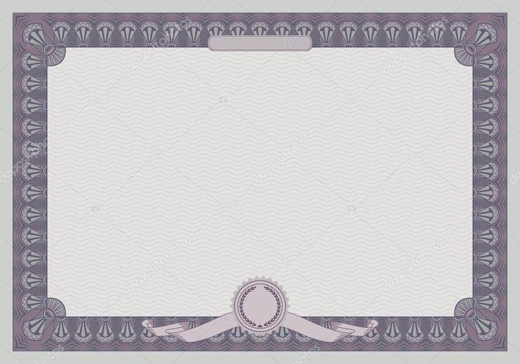 Шаблон сертифіката кадру. Ретро-стилі — стокова ілюстрація #23465768