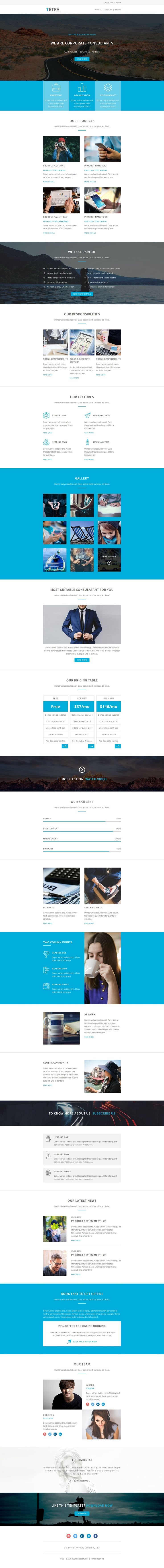 Tetra  Multipurpose Responsive Email Template  Stampready