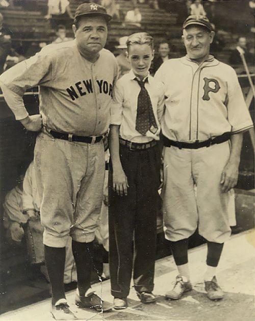 Babe Ruth (Yankees) and Honus Wagner (Pirates)