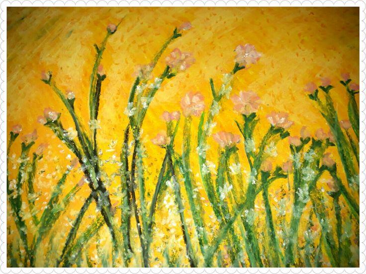 Morning Sunshine,oil pastel on paper,20×30