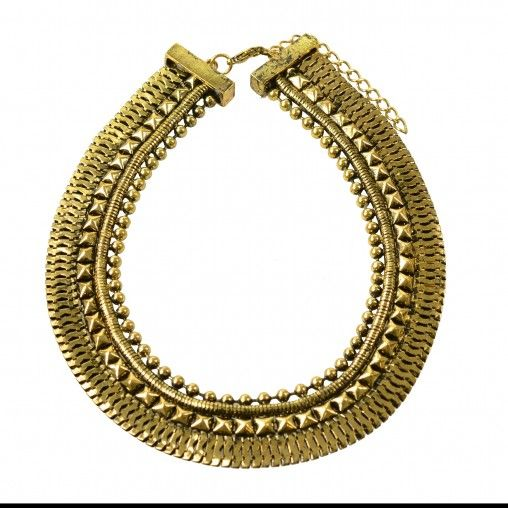 SACHA // Gold statement necklace €14,95 #sachashoes