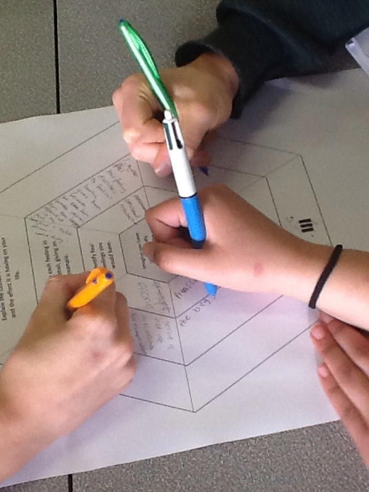 """Philippa N Antipas on Twitter: """"Working on #SOLOTaxonomy #hexagons for Y11 English revision. @arti_choke #EngchatNZ http://t.co/FPgMVpdp2K"""""""