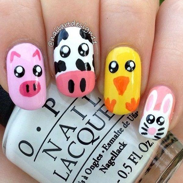 Animal Nail Designs: Best 25+ Farm Animal Nails Ideas On Pinterest