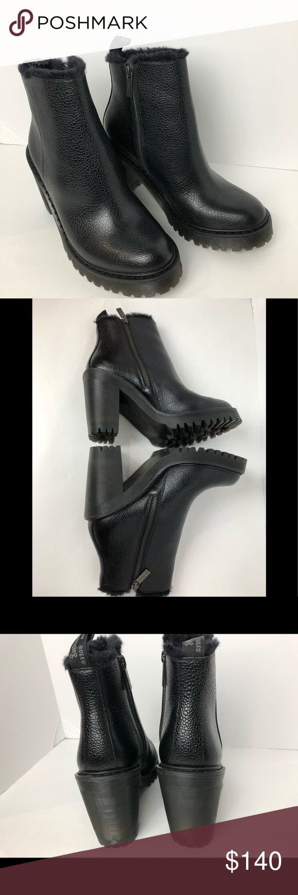 Dr. Martens Magdalena Ankle BOOTS SHOES Black  sz8 New without box. Color = black with faux fur lining..  Size = US 8 Euro= 39 UK = 6  Please see all pictures.. no box or tags but these are brand new   (C1) Dr. Martens Shoes Ankle Boots & Booties