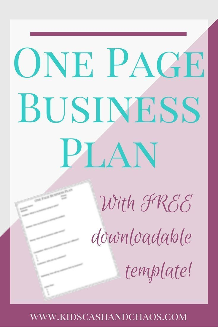 Create a One Page Business Plan for your small business. Perfect for the WAHM who wants to grow their business!