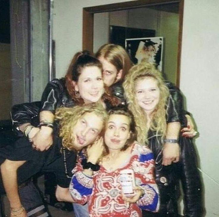 Layne Staley, Demri Parrott and friends