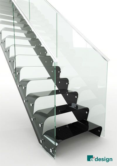 EeStairs Carbon Fiber & Glass Staircase