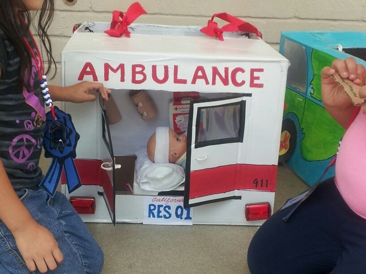 Kindy 500 cardboard ambulance