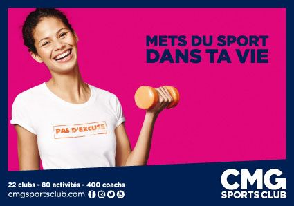 Mets du sport dans ta vie @CMGsportsclub sur #cartcom