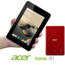 Acer offer Acer Iconia B1-710 1GB RAM 16GB Internal Storage Dual Core 1.2Ghz Processor 7-inch multi-touch display (1024 x 600) Webcam WiFi Bluetooth 4.0 Micro USB 2.0 Android 4.1 Jelly Bean (Vermillion Red). This awesome product currently limited units, you can buy it now for  , You save - New