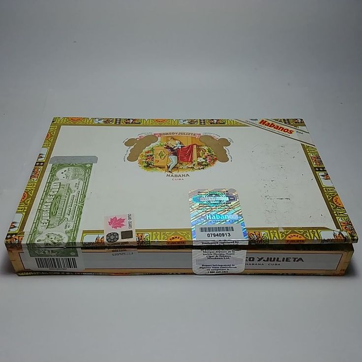 Romeo Y Julieta of 10 Romeo No.2 Empty Cigar Box Habana Imported to Canada