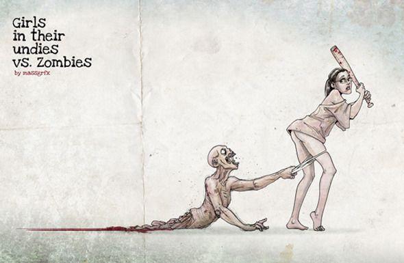 Girls In Their Undies vs. Zombies