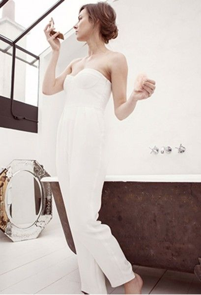 Combi pantalon de mariée - Combi pantalon: Elodie Michaud modèle Hortence, Collection 2015 - La Fiancée du Panda blog Mariage et Lifestyle