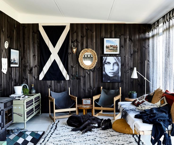 *Real Living*'s Melbourne style contributor Simone Haag moved away from the typical beach house style and palette when she made over this fabulous ocean-side shack.