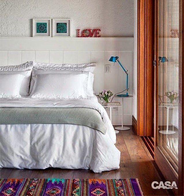 """210 curtidas, 5 comentários - Interior Design (@casa.pensada) no Instagram: """"Quarto lindo demais by @julianapippi que confirma todas as nossas dicas para quartos pequenos! Base…"""""""