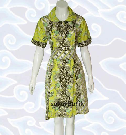 dress batik motif pekalongan terbaru BD34 di katalog http://sekarbatik.com/dress-batik/