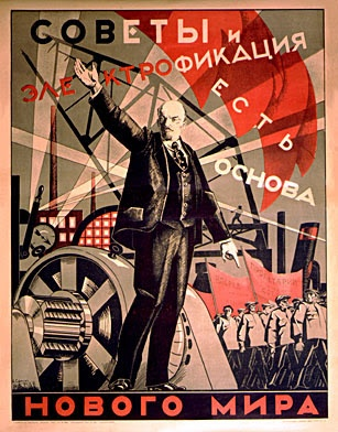"""""""Soviets and electrification are the foundation of the new world."""": Art Industrial, Classic Propaganda Image, Russian Art, Scared Propaganda, Soviet Art, Google Search, Industrial Art, Soviet Posters, Communism"""