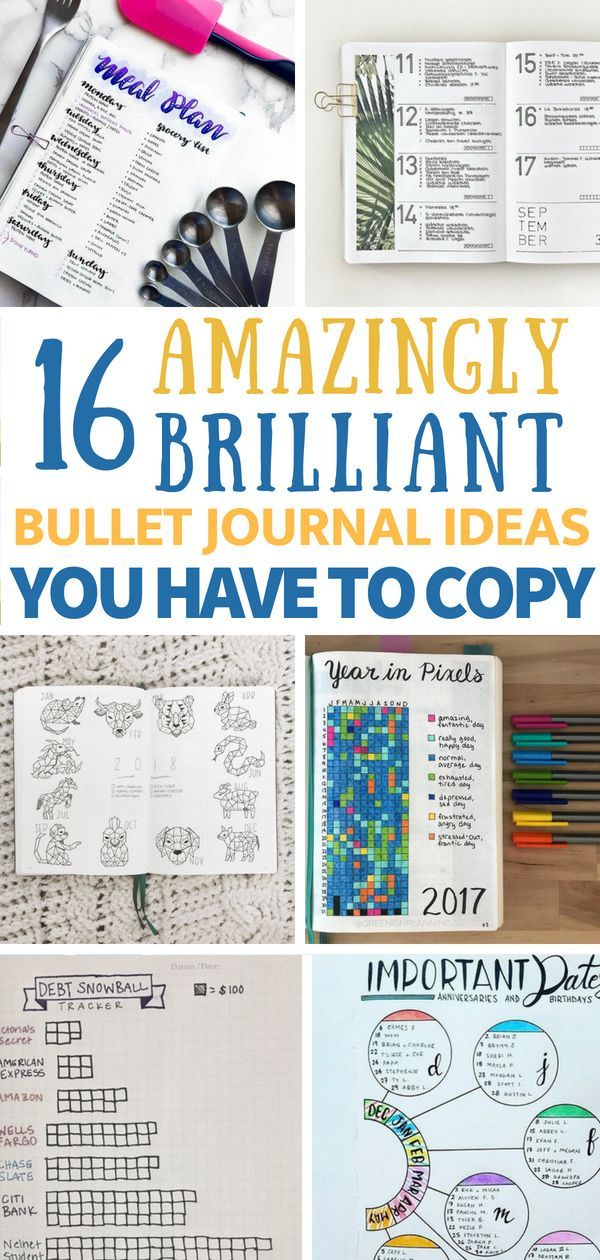 16 clever bullet journal ideas to become an organized mastermind 16 amazingly brilliant bujo ideas you have to copy bullet journals have been popping up solutioingenieria Choice Image