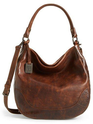 Frye 'Melissa' Washed Leather Hobo--I like this style but in BLACK.