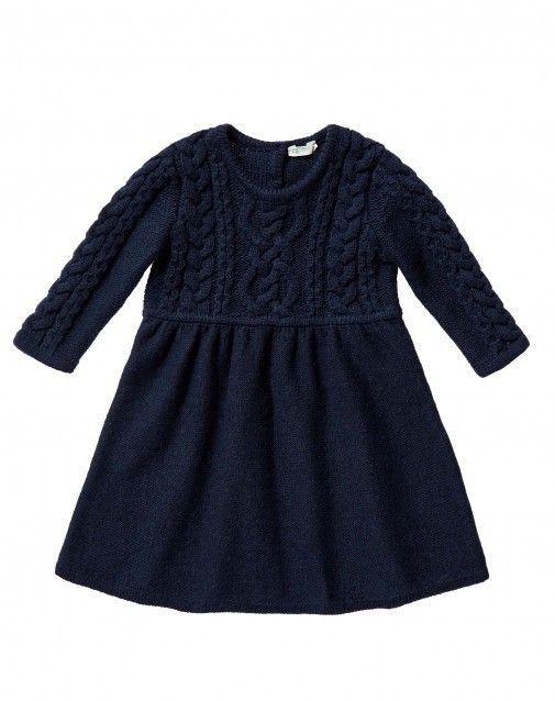 Shop Dress with weaves Dark Blue for DRESSES at the official United Colors of Benetton online shop.