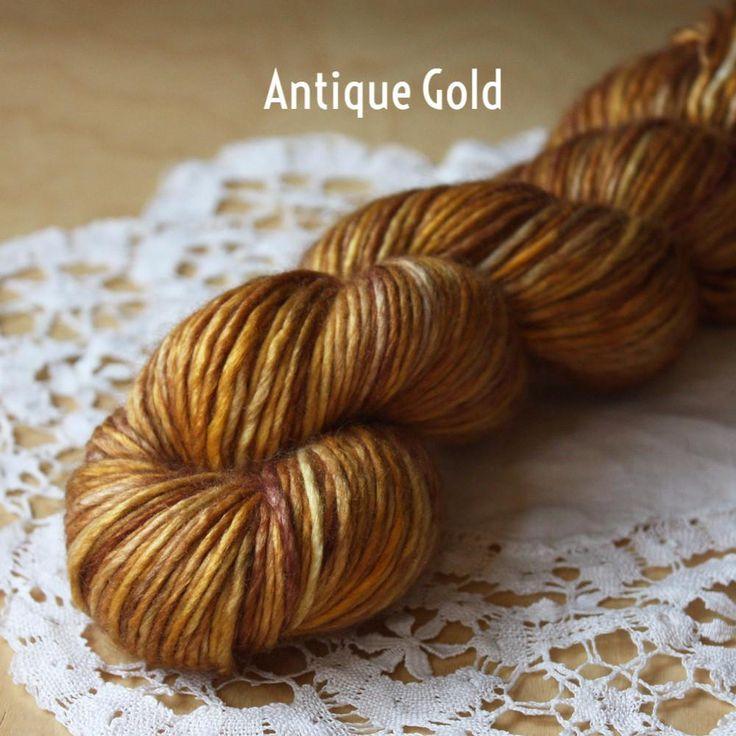 감물로 실 코팅해서 볏짚엮기 공예.... 바구니 공예 아이디어 Beurre / Worsted Weight / Superwash Merino Wool Hand Dyed Yarn - Phydeaux Designs & Fiber
