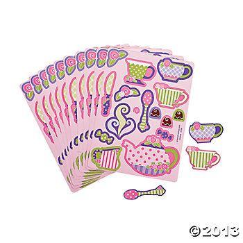 24 Tea Party Sticker Sheets