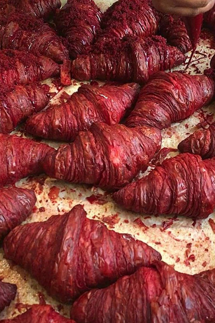 Red Velvet Croissants Look as Decadent as They Sound