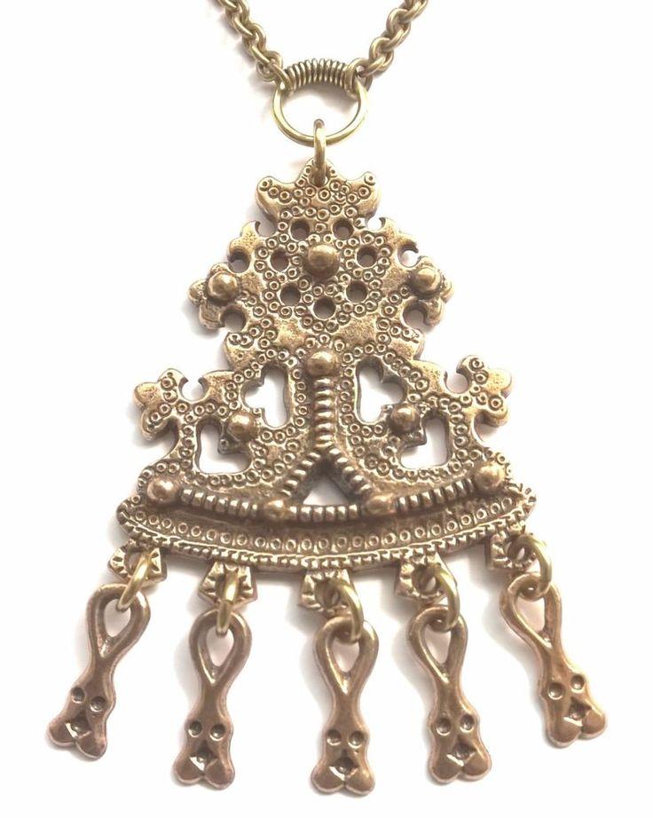 "KALEVALA KORU Vintage Bronze Necklace ""Karkku"""