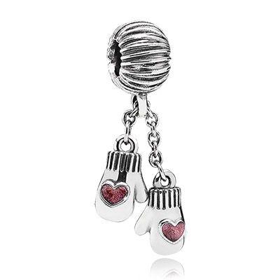 Capri Jewelers Arizona ~ www.caprijewelersaz.com Winter mittens in sterling silver PANDORA charm Christmas