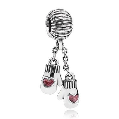 Winter mittens in sterling silver #PANDORAcharm #Christmas