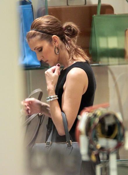 Celine Dion shopping