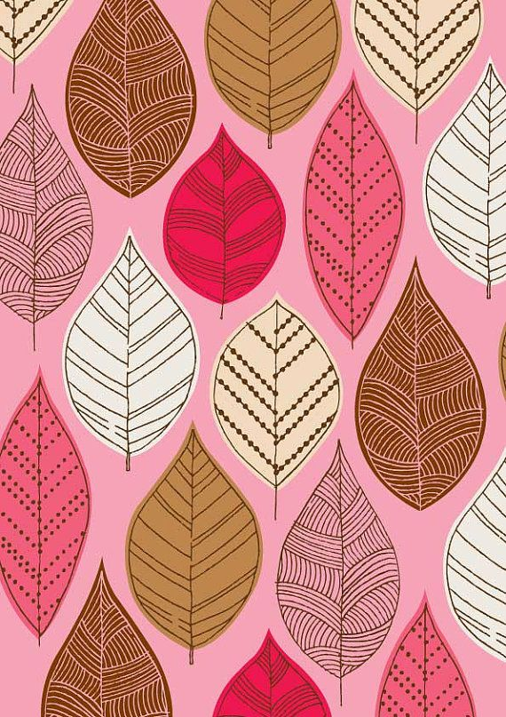 Autumn Leaves Pink, limited edition giclee print